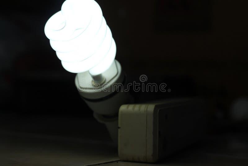 白色灯,一个电灯是设备,版本5 库存照片