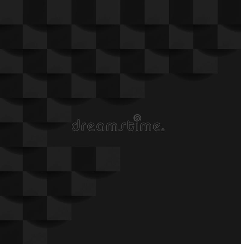 白色灰色几何纹理 抽象黑背景设计图表 免版税库存照片