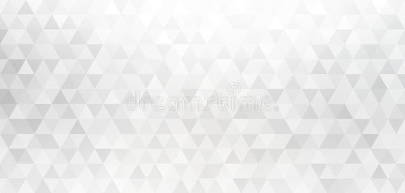 白色灰色金刚石几何背景 三角塑造创造性的样式 豪华业务设计 向量例证