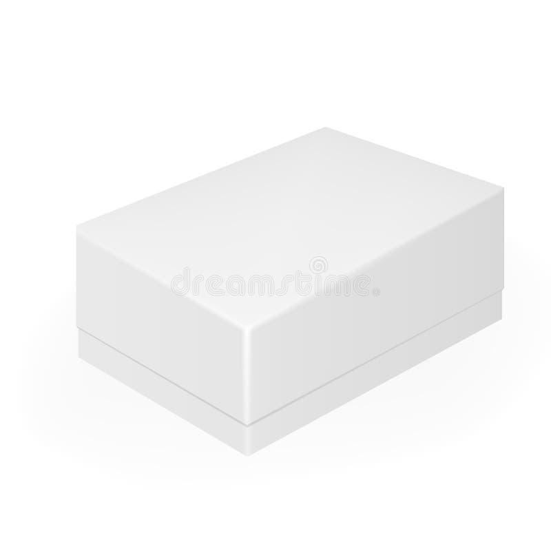 白色灰色闭合的手机或鞋盒 向量例证