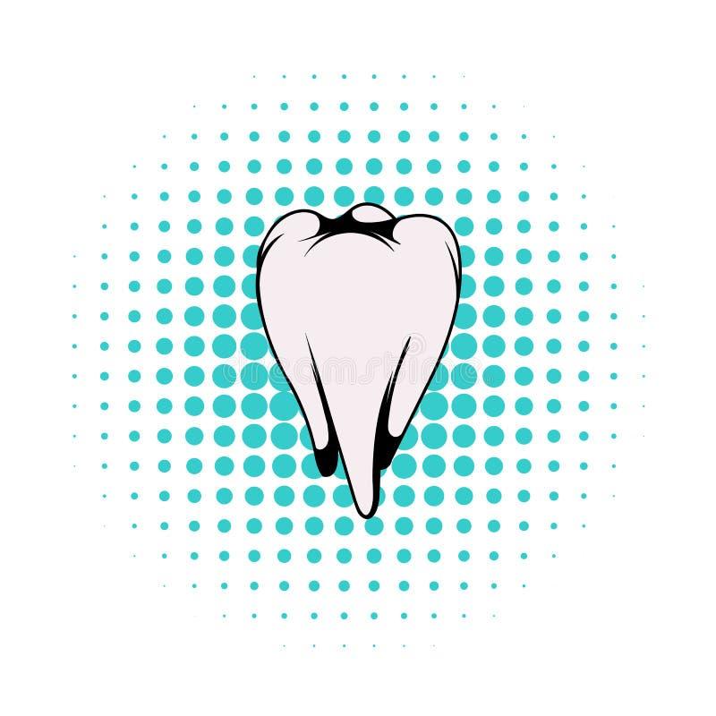 白色牙象,漫画样式 库存例证