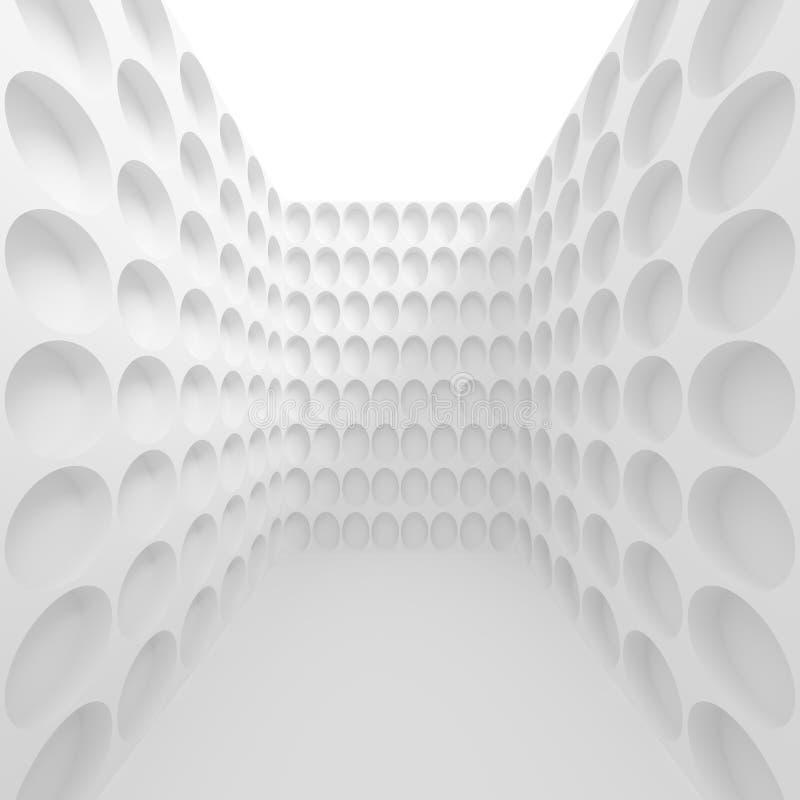 白色现代建筑学背景 库存例证