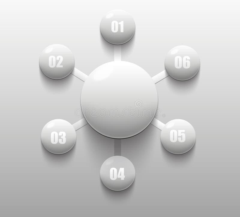 白色瓷盘旋infographic您的数据 皇族释放例证