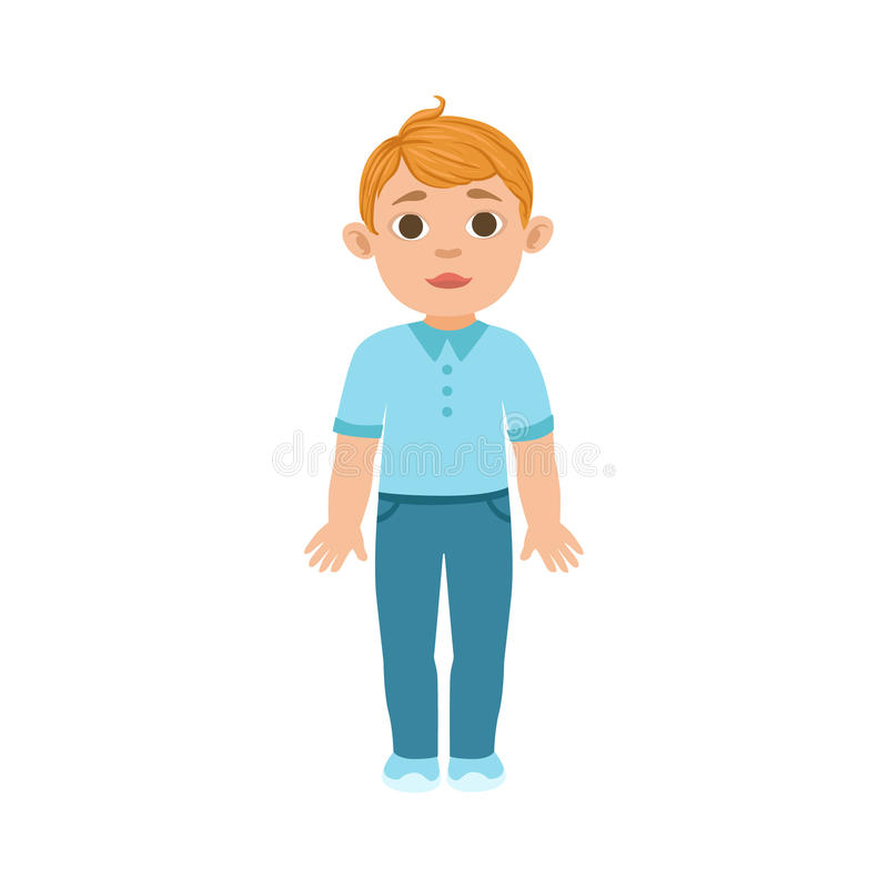 白色男孩孩子身分,一部分的与孩子的生长阶段在另外年龄传染媒介集合 库存例证