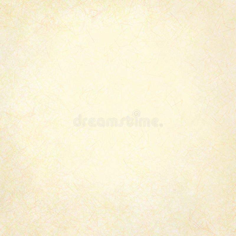 白色的古色古香的背景奶油 皇族释放例证