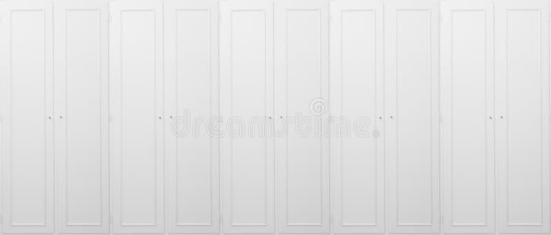 白色的壁橱,木,闭合,为背景 关闭与细节的看法 图库摄影