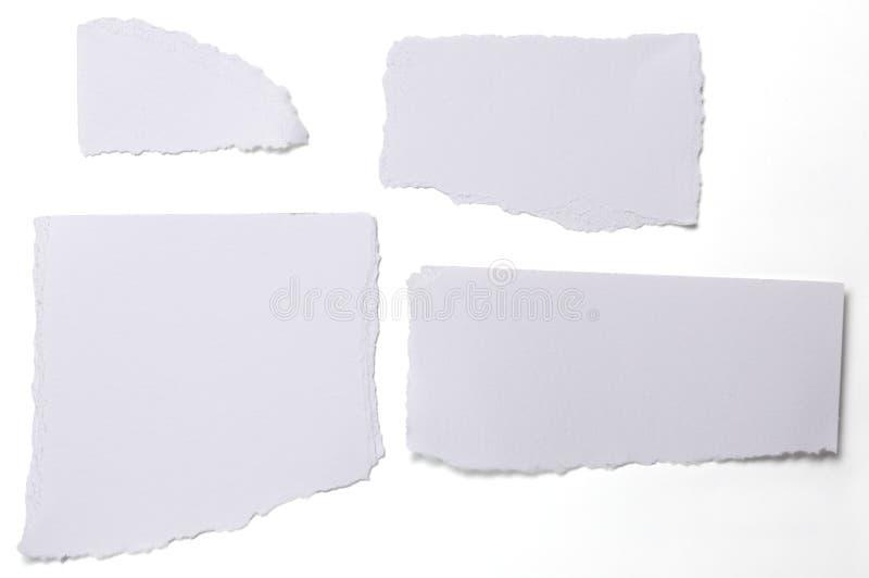 白色的汇集剥去了纸在白色的 免版税库存照片