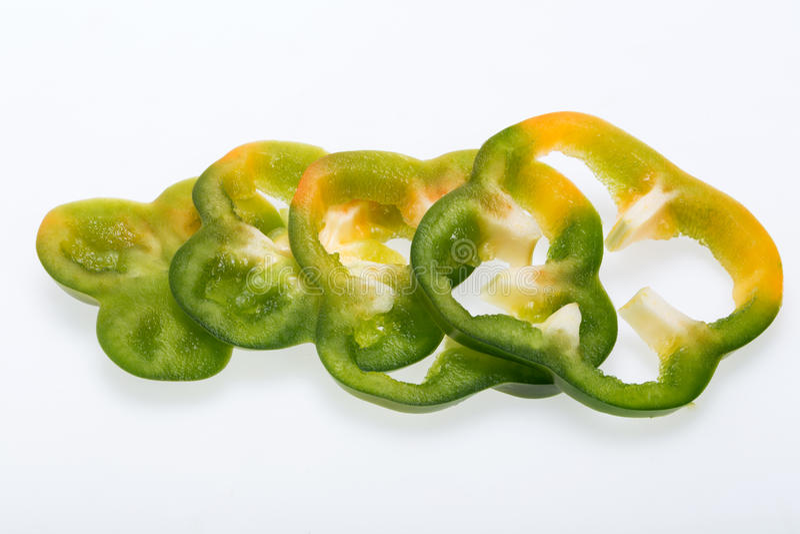 白色的背景接近的胡椒甜点 免版税图库摄影