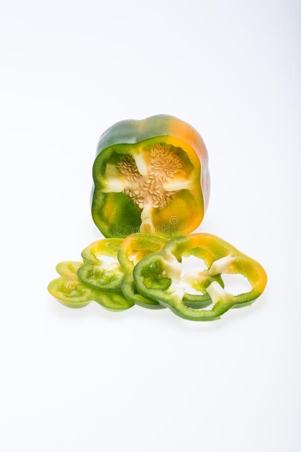 白色的背景接近的胡椒甜点 图库摄影