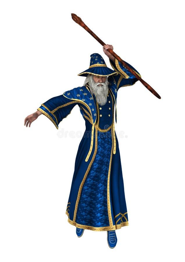 白色的幻想巫术师 库存例证