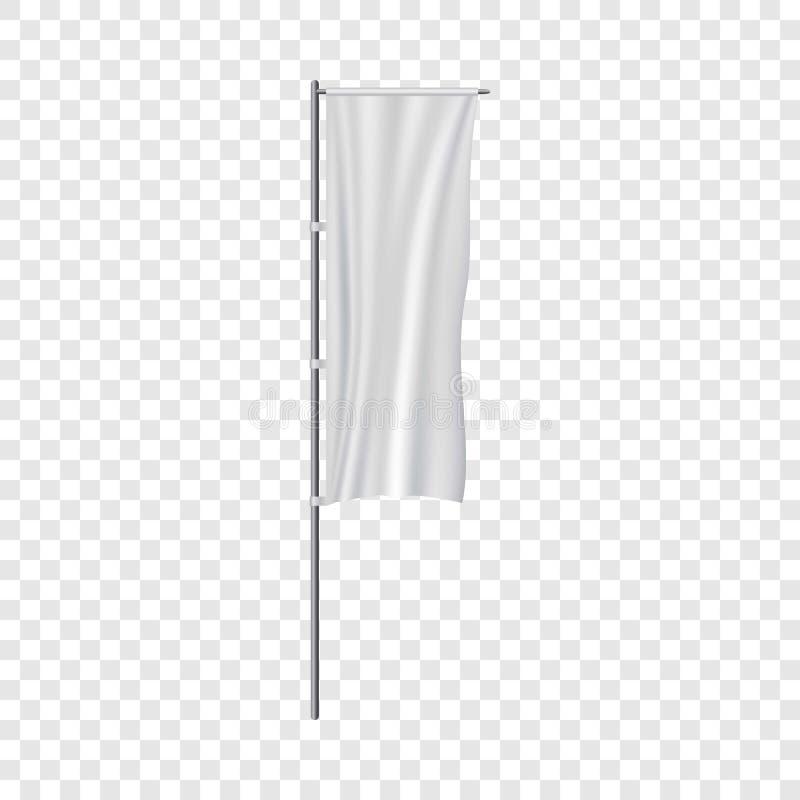 白色盘区旗子大模型,现实样式 库存例证