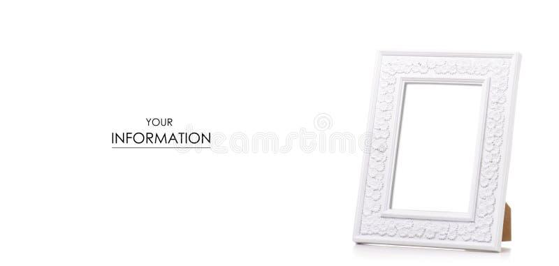 白色相框样式 库存图片