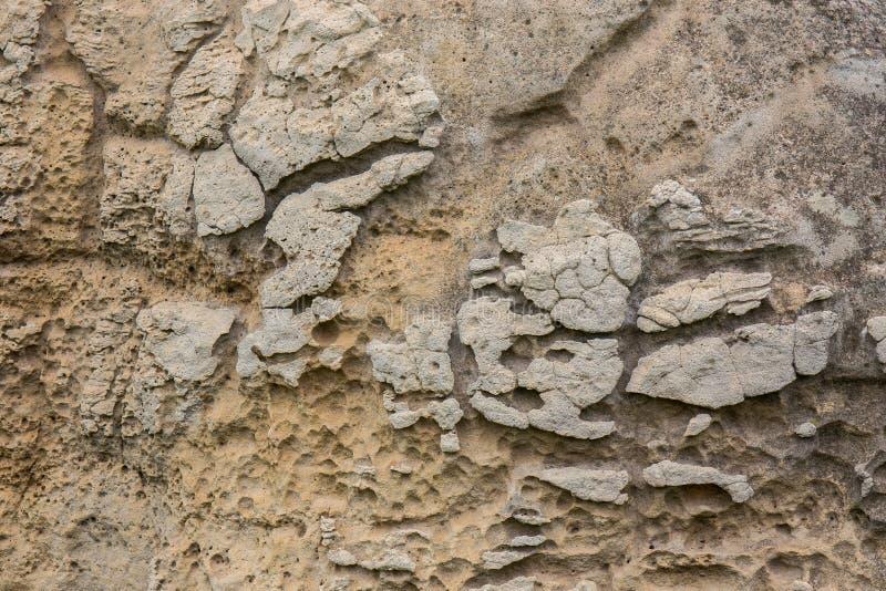 白色石纹理在Mo Hin Khao -猜也奔府,泰国 图库摄影