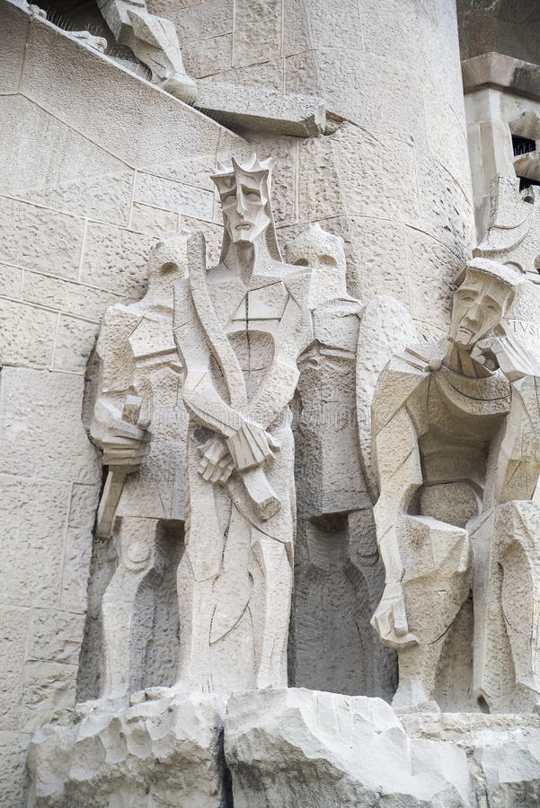 白色石头的雕刻的构成 免版税库存图片