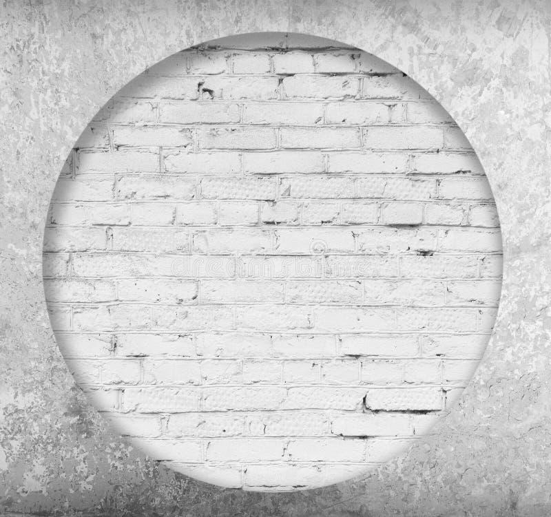 白色砖和水泥内部  库存图片