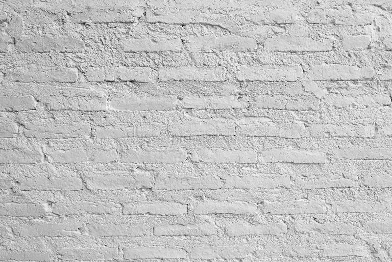 白色砖墙的水平的纹理 库存图片