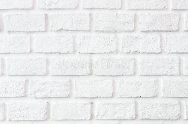 白色砖墙背景 免版税库存照片