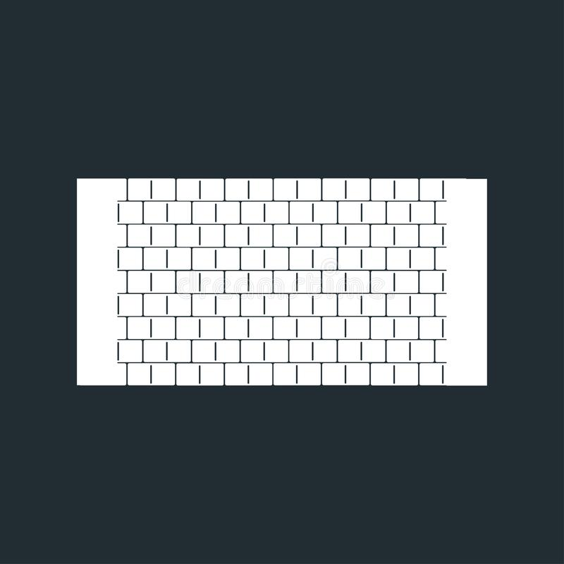 白色砖墙象传染媒介 向量例证