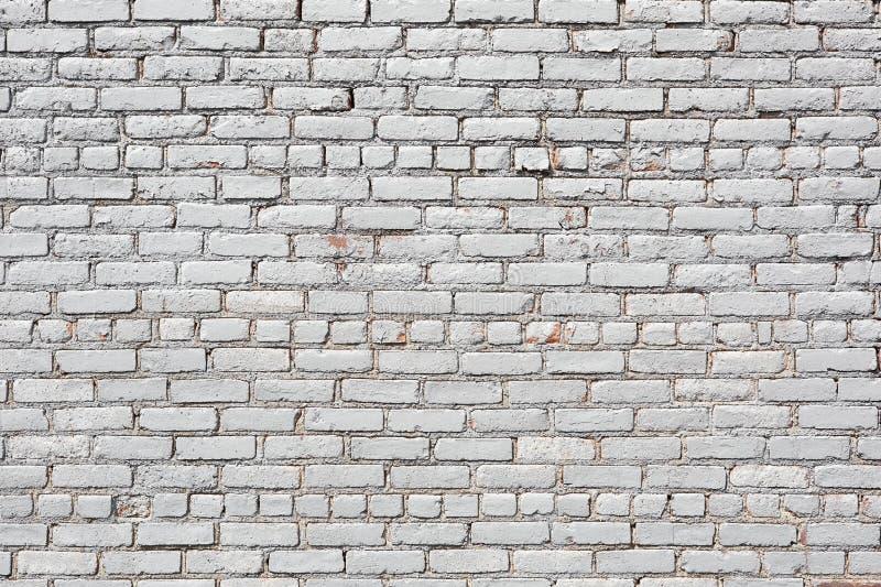 白色砖墙,被风化的纹理背景 免版税图库摄影