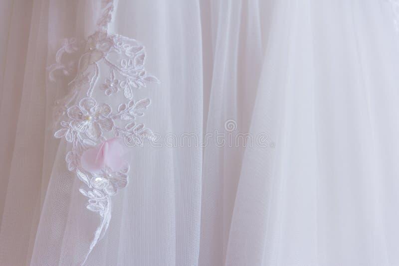 白色礼服鞋带 图库摄影