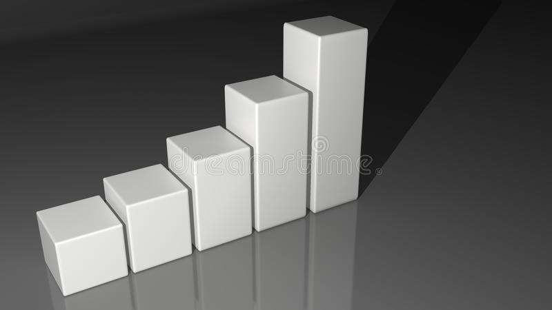 白色禁止直方图 向量例证