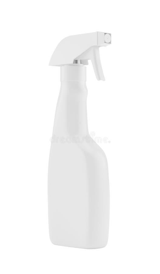 白色空白的塑料在背景隔绝的浪花洗涤剂瓶 包装的模板大模型收藏 向量例证