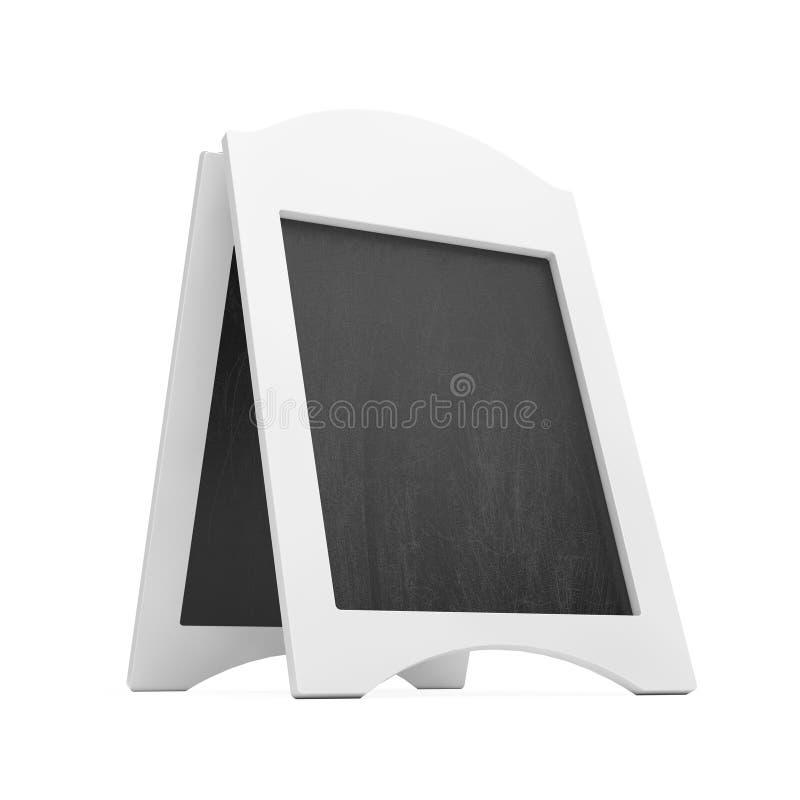 白色空白的木菜单黑板室外显示 3d翻译 皇族释放例证