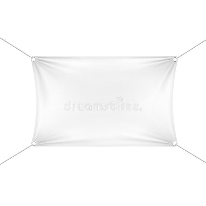 白色空白的空的水平的长方形横幅 向量例证