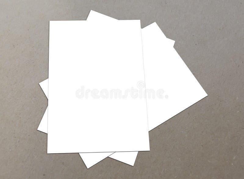 白色空白的飞行物收藏 免版税库存图片