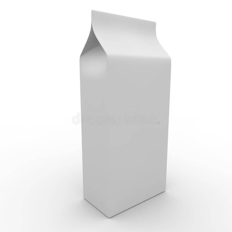 白色空的包裹 向量例证