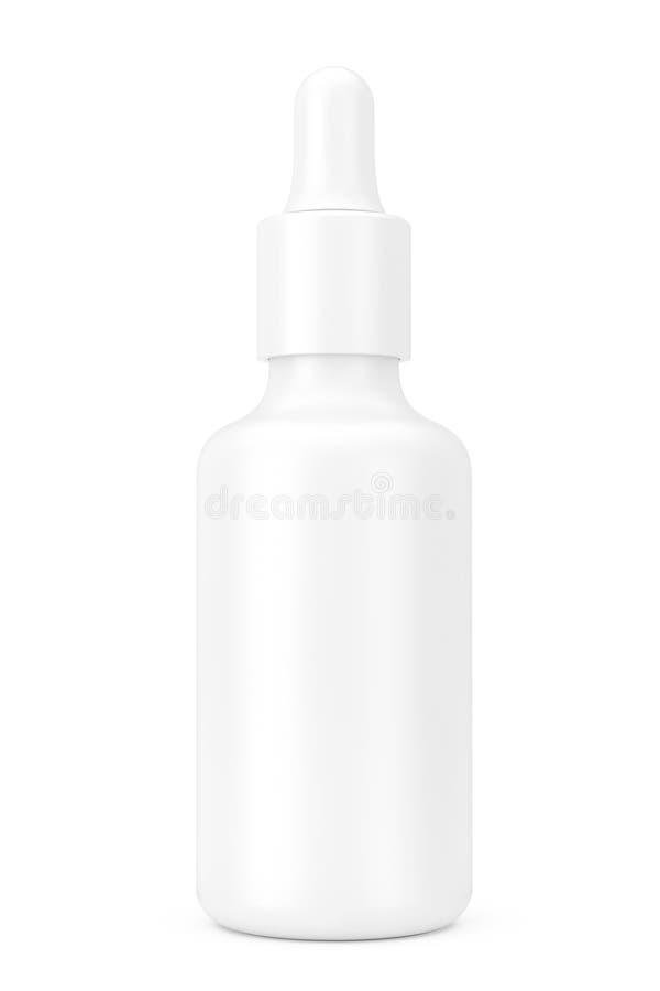 白色空的大模型滴管瓶 3d翻译 向量例证