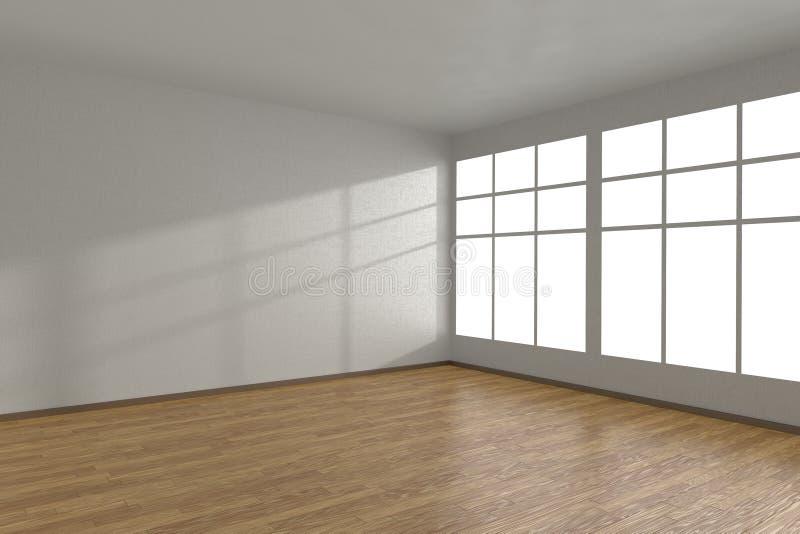 Download 白色空的室的角落有大窗口的 库存例证. 插画 包括有 楼层, 背包, 照亮, 房子, 硬木, 室内, 内部 - 59110092