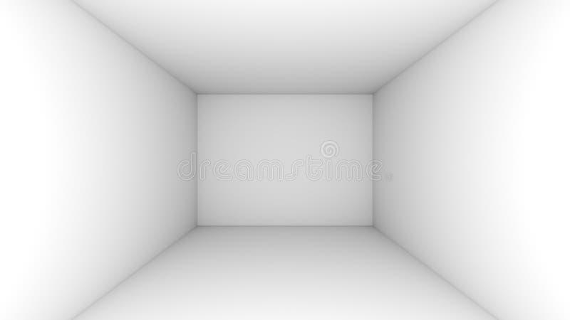白色空的室背景 皇族释放例证