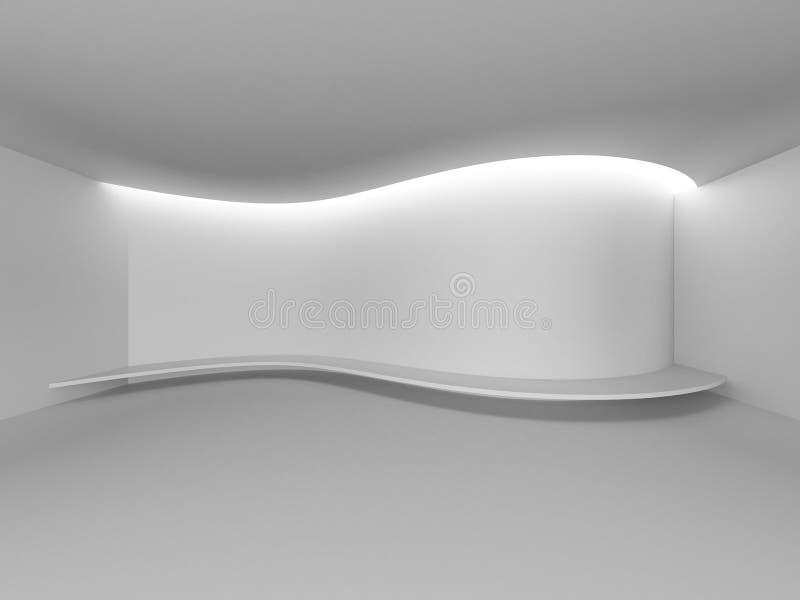 白色空的室露天场所/曲线陈列经典之作艺术家 向量例证