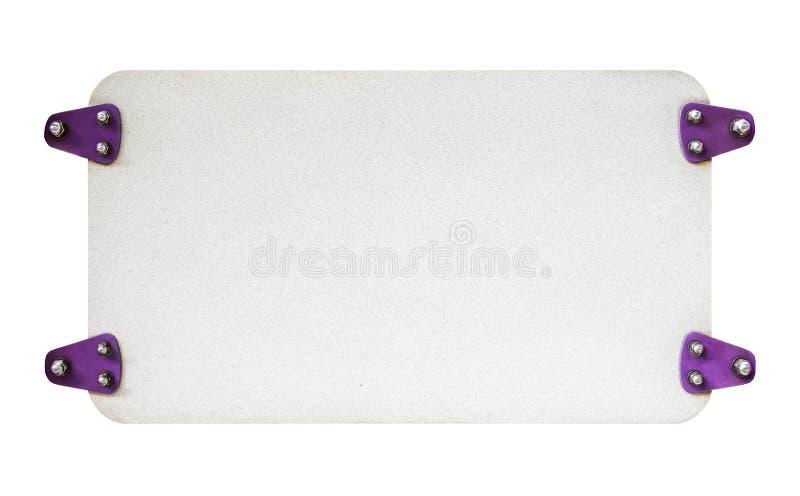 白色空的牌,自由空间 图库摄影
