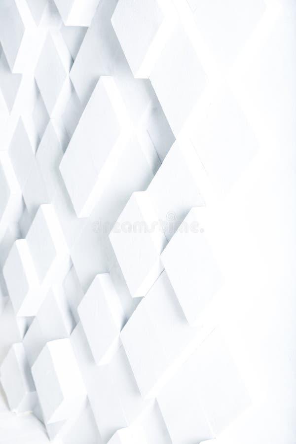 白色立方体背景的抽象图象 库存例证