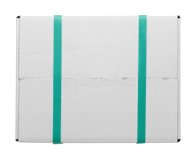 白色箱子和皮带 免版税图库摄影