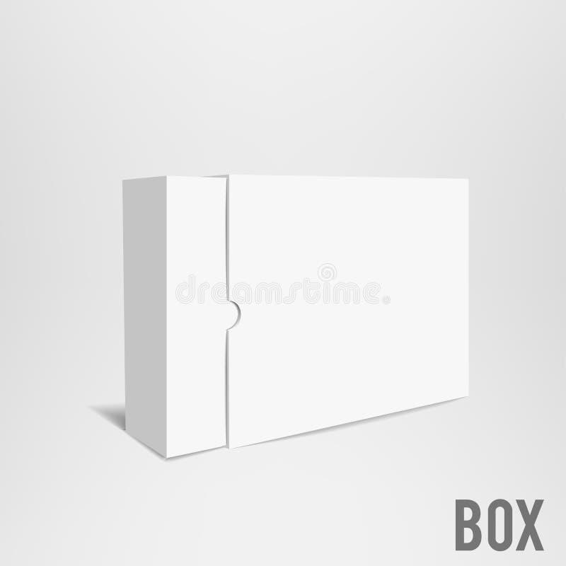 白色箱子大模型纸板包裹eps 10 库存照片