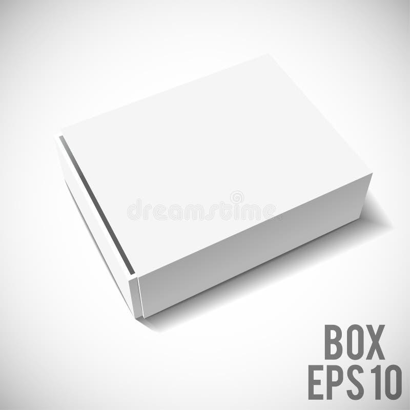 白色箱子大模型纸板包裹eps 10 免版税库存图片