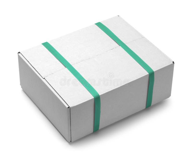 白色箱子绿色皮带 免版税库存图片