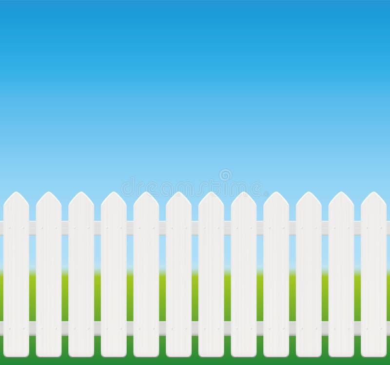 白色篱芭可笑的样式 库存例证
