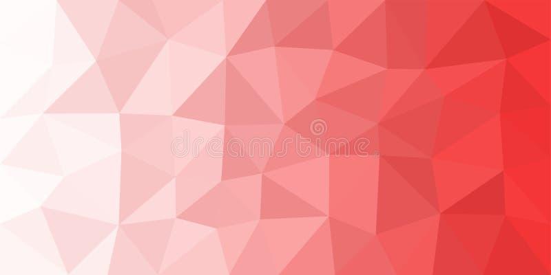 白色红色低多传染媒介背景 向量例证