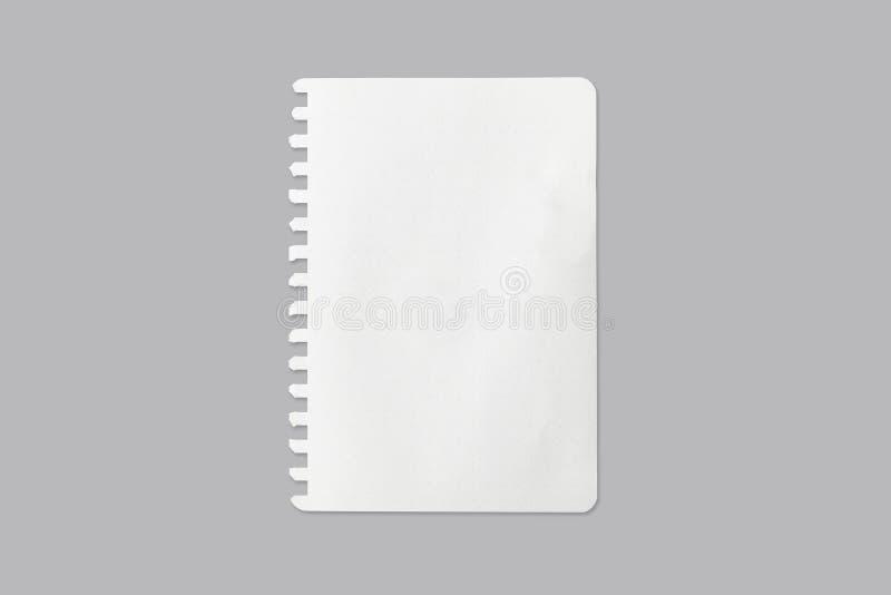 白色纸片背景的纹理与裁减路线 免版税库存照片