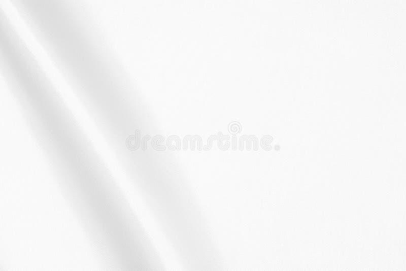 白色织物的纹理 库存图片