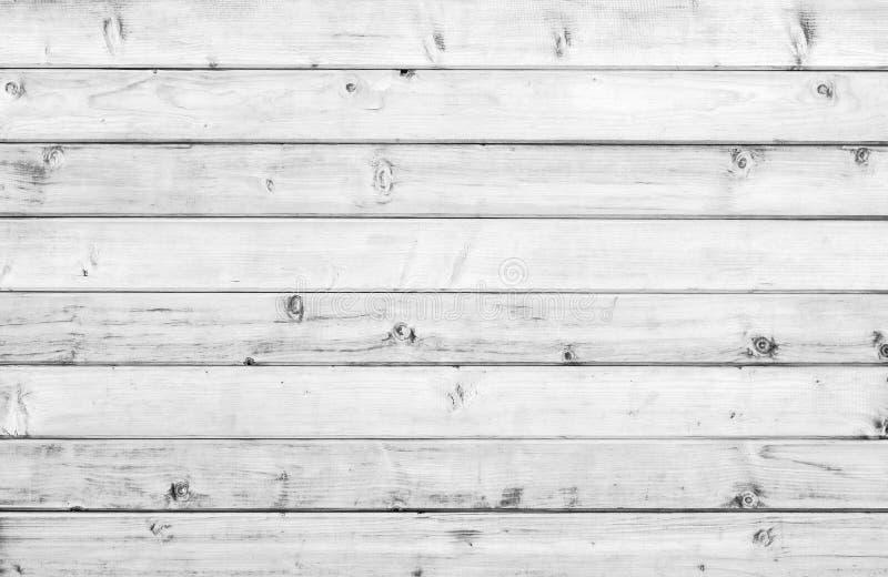 白色老木葡萄酒板条地板或墙壁表面 免版税图库摄影