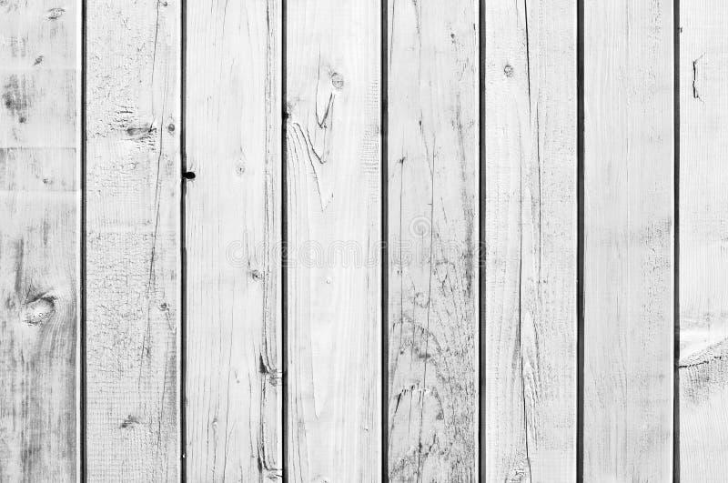 白色老木头或木葡萄酒板条地板 库存照片