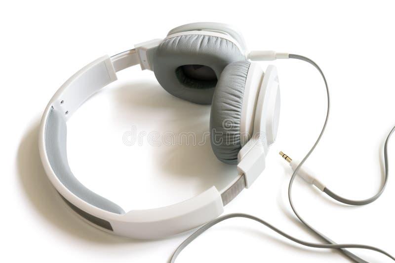 白色耳机 库存照片