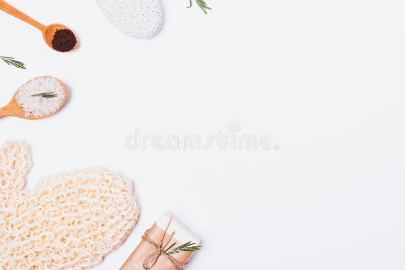 白色肥皂浴主题的背景  图库摄影