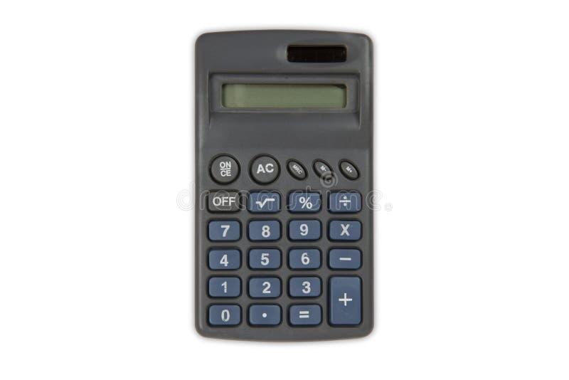 白色背景上的袖珍计算器 库存图片