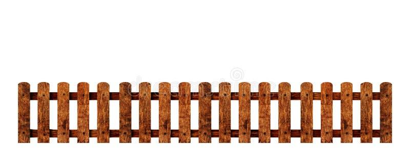 白色背景中的木制围栏 库存图片